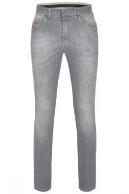 Lichtgrijze jeans, grijze spijkerbroek