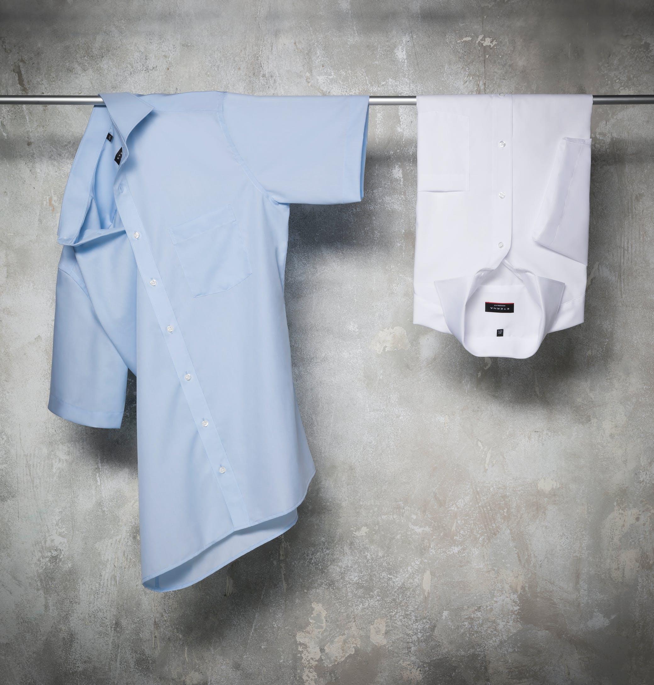 Eterna overhemden kopen opgehangen shirts
