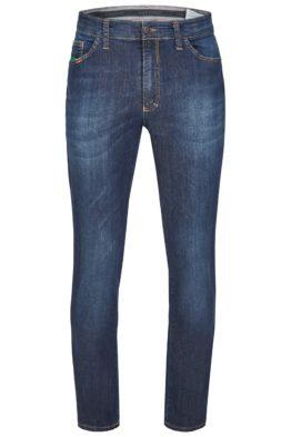 Jeans stretch middel blauw