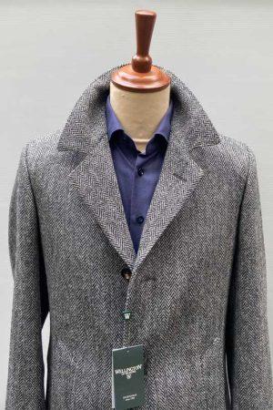 Harris-Tweed-overjas-Grijs-visgraat-3